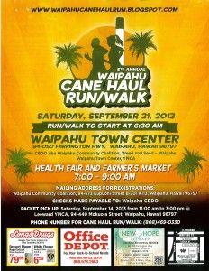 5th Annual Cane Haul Run/Walk