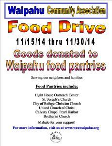 2014 Food Drive Flyer