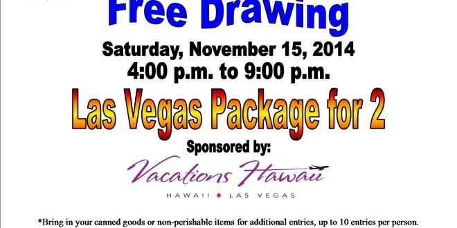 Win a trip for 2 to Las Vegas