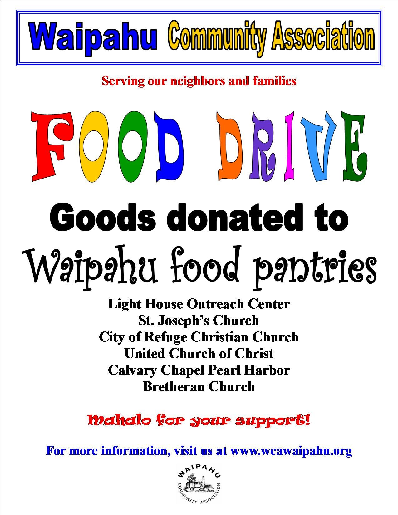 Church food pantry flyers