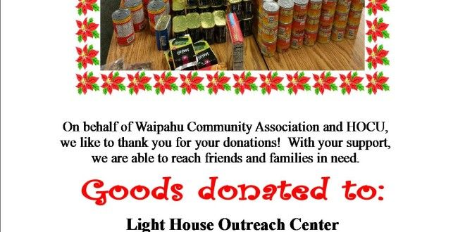 Annual Food Drive Donation