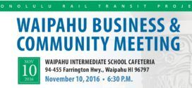 Waipahu Business & Community Meeting Nov. 10th