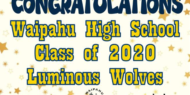 Ho'omaika'i 'ana Waipahu High School Class of 2020